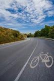自行车森林运输路线 免版税图库摄影