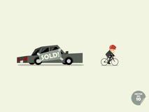 自行车概念 库存照片