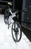 自行车概念e马达聪明巴黎的显示 免版税库存图片