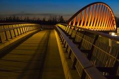 自行车步行者桥梁 库存图片