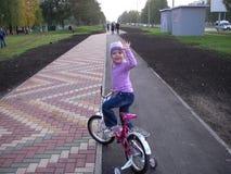 自行车步行 图库摄影