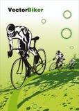 自行车比赛向量 免版税库存图片