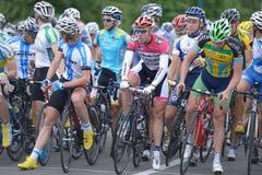自行车比赛天际公园2013年在基辅 库存图片