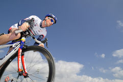自行车比赛路 免版税库存照片