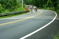 自行车比赛路 免版税库存图片