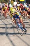 自行车比赛路 免版税图库摄影
