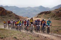 自行车沙漠马拉松山 免版税图库摄影