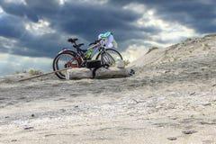 自行车沿海 免版税图库摄影