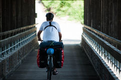 自行车游人 库存照片