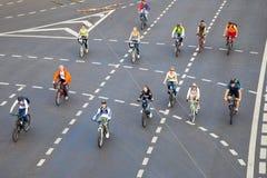 自行车游行 图库摄影