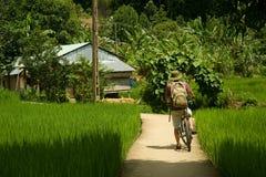 自行车游览在越南 免版税图库摄影