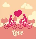 自行车爱设计 免版税库存照片