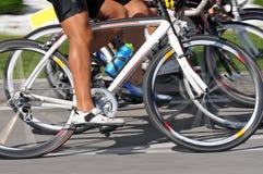 自行车特写镜头速度 免版税库存照片