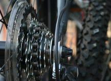 自行车特写镜头齿轮 免版税库存图片