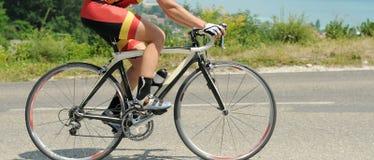 自行车特写镜头 库存照片