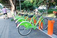 自行车瓷公共系统 库存图片