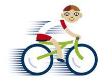自行车男孩一点 免版税库存图片