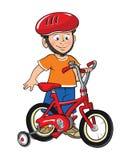 自行车男孩他的 库存例证