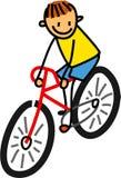 自行车男孩 免版税库存照片