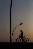 自行车的一个人 图库摄影