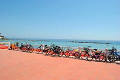 自行车的停车处 免版税库存照片