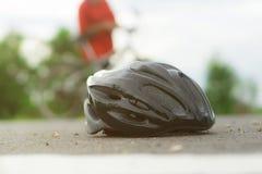 自行车的帽子 免版税图库摄影