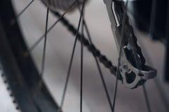 自行车的片段背景  免版税图库摄影