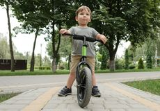 自行车的男孩 库存照片