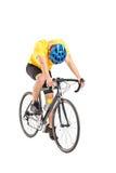 自行车的疲乏的骑自行车者 免版税库存图片