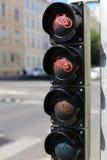 自行车的红绿灯 库存图片