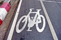 自行车的车道 免版税库存图片
