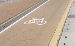 自行车的车道 库存图片