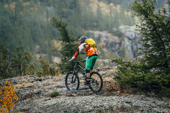 自行车的运动员 库存图片