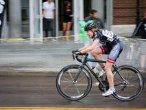 自行车种族妇女 库存照片