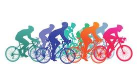自行车种族的骑自行车者 库存例证