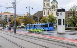 自行车租务在布达佩斯 免版税库存照片