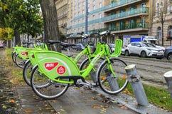 自行车租务在布达佩斯 免版税图库摄影
