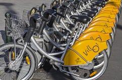 自行车租务在布鲁塞尔 库存照片