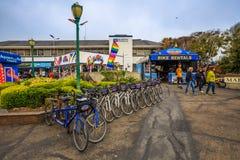 自行车租务旧金山 免版税库存照片