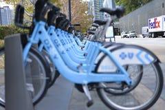 自行车租务驻地 库存照片