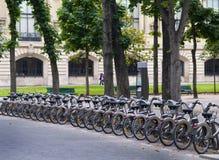 自行车租赁 免版税库存照片