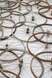 自行车空白详述的查出的系列通信工具的轮子 库存照片