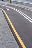 自行车空的运输路线 免版税库存照片