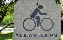 自行车签到公园 图库摄影