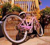 自行车粉红色 库存照片
