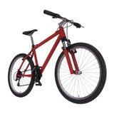 自行车红色 免版税库存图片