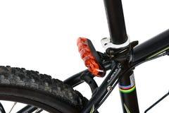 自行车红颜色车后灯  库存图片