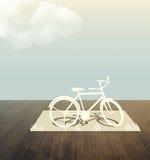 自行车纸张剪切 库存图片