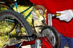 自行车维护和服务 库存图片