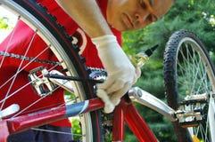 自行车维护和服务 免版税库存照片